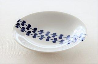 WP148 プレート皿/丸(白×青)・北欧