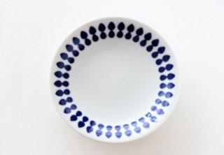 WP149 プレート皿/丸(白×青)・北欧