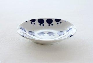 WP150 プレート皿/丸(白×青)・北欧