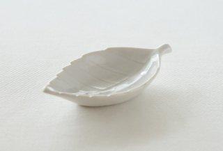 WP171 豆皿/葉(白)