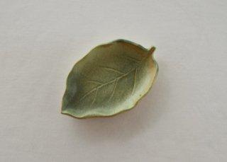 WP187 和風皿/葉(緑)