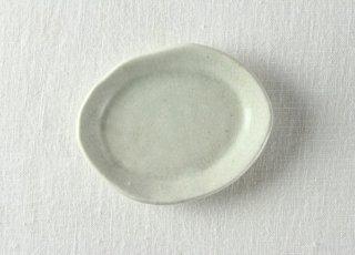 WP868 和風小皿/楕円(水色)
