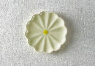WP871 和風小皿/花(黄)
