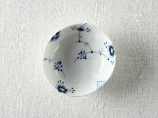 WP881 和風皿/楕円(白×青)