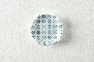 WP883 豆皿/花(白×青)
