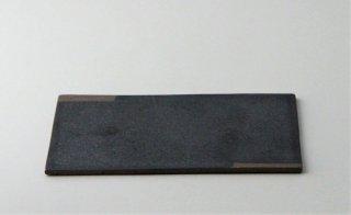 WP887 角皿/四角(黒×茶)・丹波焼