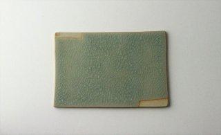 WP888 角皿/四角(水色×ベージュ)・丹波焼