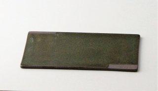 WP891 角皿/四角(濃緑×グレー)・丹波焼