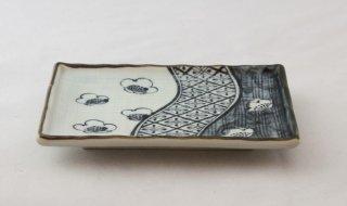 WP910 和皿/四角(白×青)・桜