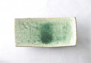 WP936 和皿/四角(緑)・脚付き