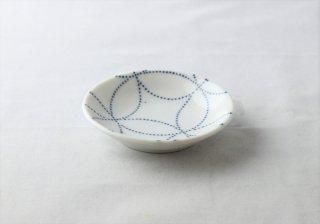 WP946 和皿/丸(白×水色)・鹿の子