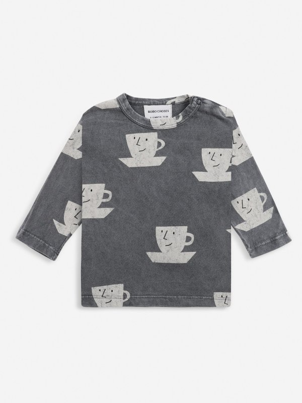 <img class='new_mark_img1' src='https://img.shop-pro.jp/img/new/icons14.gif' style='border:none;display:inline;margin:0px;padding:0px;width:auto;' />aw21 BOBOCHOSES baby Cup Of Tea All Over long sleeve T-shirt(6-12m,18-24m,24-36m)