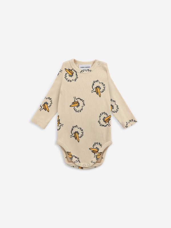 <img class='new_mark_img1' src='https://img.shop-pro.jp/img/new/icons14.gif' style='border:none;display:inline;margin:0px;padding:0px;width:auto;' />Last1!aw21 BOBOCHOSES baby Birdie All Over body 6-12m