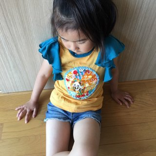 半袖Tシャツ  フリルTシャツ ベイビーフェイス手作り子供服
