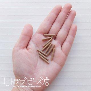 パイプビーズ10本セット(ミルクティ)