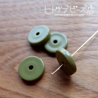 ディスクビーズ4個(カーキ)