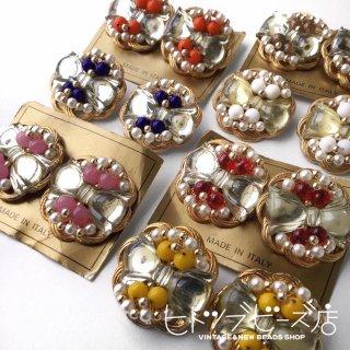 Vintage Italian ribbon earrings