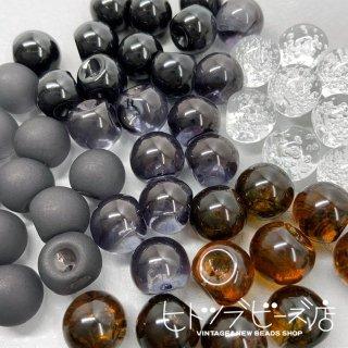 鈴丸ビーズ8mm 4個(ブラック)