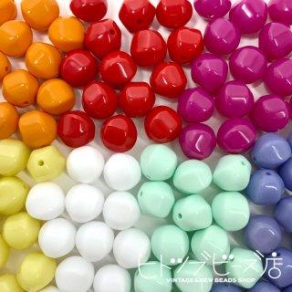 【全7色】六面ビーズ11mm 4個