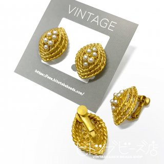 <img class='new_mark_img1' src='https://img.shop-pro.jp/img/new/icons1.gif' style='border:none;display:inline;margin:0px;padding:0px;width:auto;' />Vintage Openwork Marquise Earrings