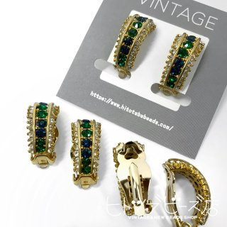 <img class='new_mark_img1' src='https://img.shop-pro.jp/img/new/icons1.gif' style='border:none;display:inline;margin:0px;padding:0px;width:auto;' />Vintage Blue and green earrings