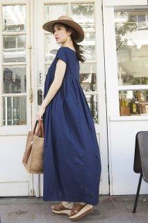 ロングプリーツドレス(ネイビー)