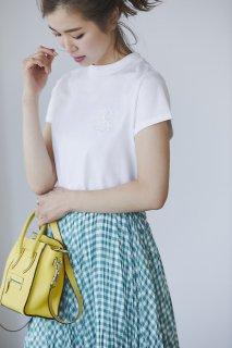 【再入荷】SVTロゴ刺繍Tシャツ(ホワイト)