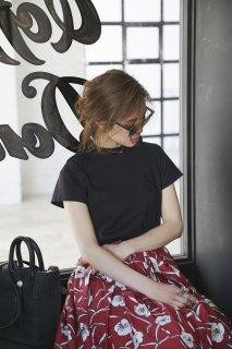 【再入荷】SVTロゴ刺繍Tシャツ(ブラック)