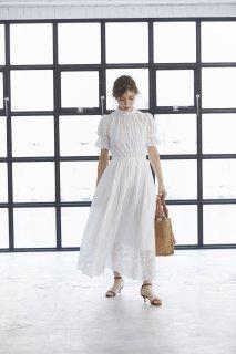 コットンカットワークレースドレス(ホワイト)