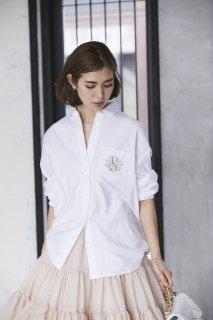 SVT刺繍オックスシャツ(ホワイト)