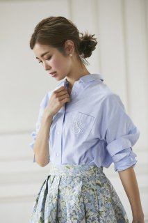 SVT刺繍オックスシャツ(ライトブルー)