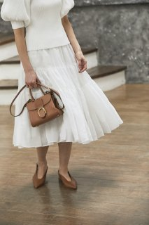 ソフトオーガンジースカート(ホワイト)