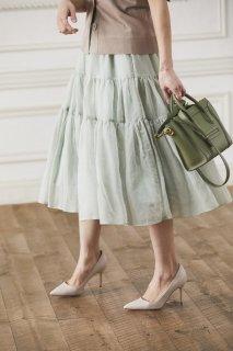 ソフトオーガンジースカート(ライトグリーン)
