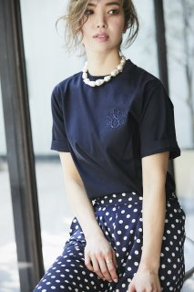 SVT刺繍Tシャツ(ネイビー)
