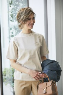 SVT刺繍Tシャツ(ベージュ)