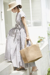 ストライプシャツドレス(ブラウン)