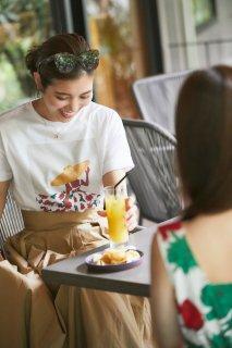 サマードレスプリントTシャツ/レッド(フラワー)