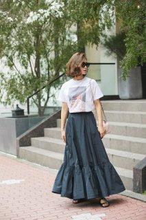 サマードレスプリントTシャツ/グレー(フラワー)