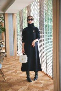ニットドレス(ブラック)
