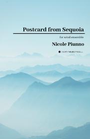 【吹奏楽 楽譜】<br>セコイアからの手紙 <br>作曲:ニコル・パイウノ