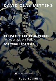 【吹奏楽 楽譜】<br>2匹の金属スクラップ鳥のための動的な踊り <br>作曲:デビッド・クレイ・メテンズ
