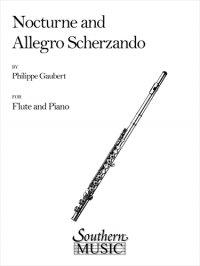 (楽譜) ノクターンとアレグロ・スケルツァンド / 作曲:フィリップ・ゴーベール (フルート+ピアノ)