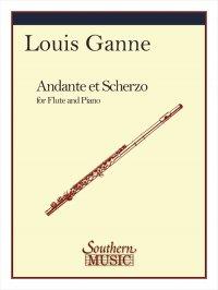 (楽譜) アンダンテとスケルツォ / 作曲:ルイ・ガンヌ (フルート&ピアノ)