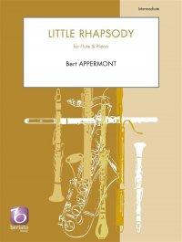 (楽譜) 小狂詩曲 / 作曲:ベルト・アッペルモント (フルート&ピアノ)