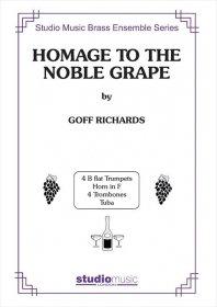 (楽譜) 高貴なる葡萄酒をたたえて / 作曲:ゴフ・リチャーズ (金管10重奏)(スコア+パート譜セット)