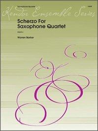 (楽譜) スケルツォ / 作曲:ウォーレン・バーカー (サクソフォーン4重奏)