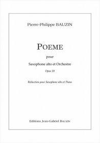 【アルト・サクソフォーン&ピアノ 楽譜】<br>ポエム <br>作曲:ピエール=フィリップ・ボーザン