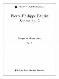 【アルト・サクソフォーン&ピアノ 楽譜】<br>ソナタ第2番 <br>作曲:ピエール=フィリップ・ボーザン