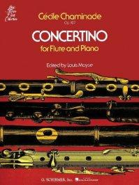 (楽譜) フルート・コンチェルティーノ Op. 107 / 作曲:セシル・シャミナード (フルート&ピアノ)
