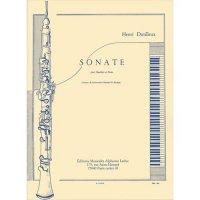 (楽譜) オーボエ・ソナタ / 作曲:アンリ・デュティユー (オーボエ&ピアノ)